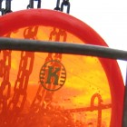 Red Disc In Basket